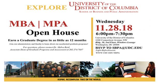 UDC, MBA and MPA Open House